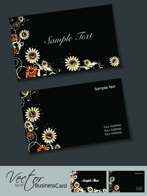 Set of Elegant Business Cards Vector 05