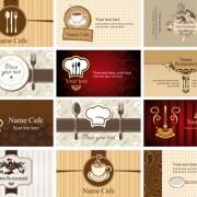 Link toSet of restaurant & cafe cards vectot 01