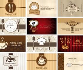 Set of Restaurant & Cafe cards vectot 01
