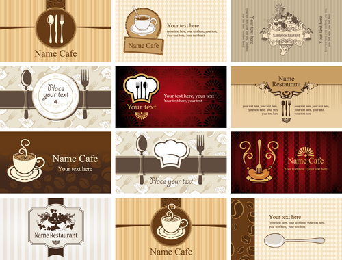 Set of restaurant cafe cards vectot 01 over millions vectors set of restaurant cafe cards vectot 01 toneelgroepblik Images