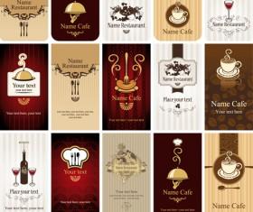 Set of Restaurant & Cafe cards vectot 02