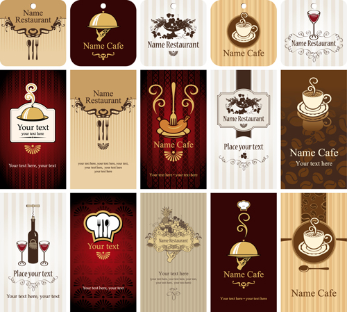 Set of restaurant cafe cards vectot 02 over millions vectors set of restaurant cafe cards vectot 02 toneelgroepblik Images