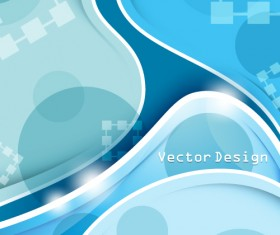 Set of ornate waves vector background 15