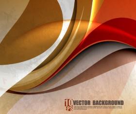 Set of ornate waves vector background 03