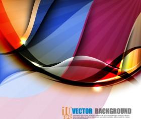 Set of ornate waves vector background 05