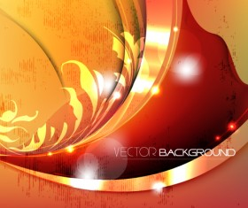 Set of ornate waves vector background 10