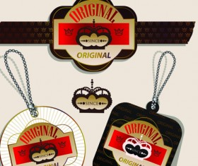 superior quality badges, labels and tags elements vector 05