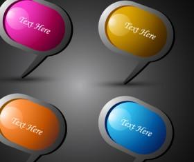 Shiny 3d Creative icon vector 01