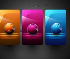 Shiny 3d Creative icon vector 04