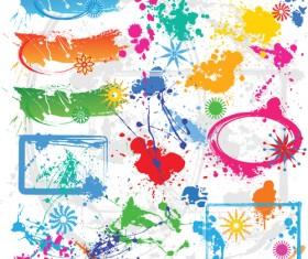 Spatter Mix design elements vector