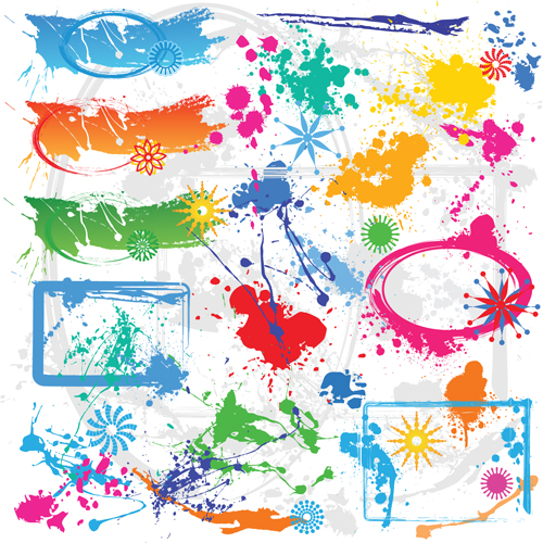 Spatter Mix design elements vector
