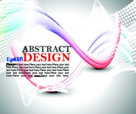 abstract waves elements vector background 05