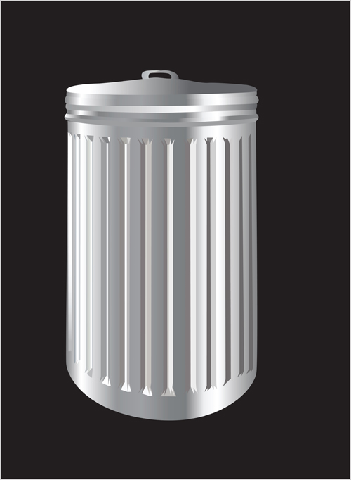 Colorful trash can vector 03