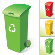 Link toColorful trash can vector 05
