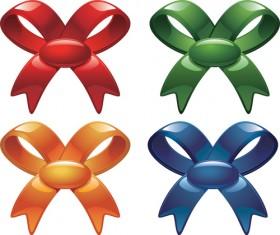Various color 3D Bows Vector