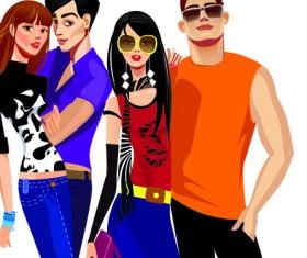 Stylish Youth design elements vector 05