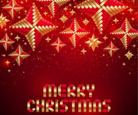 Merry Christmas Origami elements vector 02