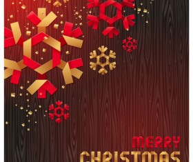 Merry Christmas Origami elements vector 03