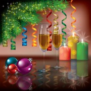 Link toChristmas decoration elements vector 01