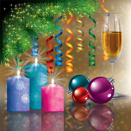 Christmas Decoration elements vector 02