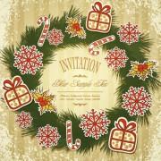 Link toSet of christmas design vector background 01