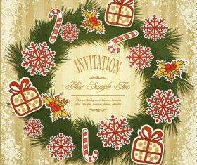 Set of Christmas design vector background 01