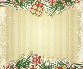 Set of Christmas design vector background 02
