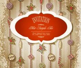 Set of Christmas design vector background 04