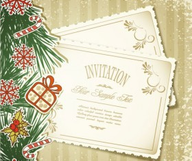 Set of Christmas design vector background 05