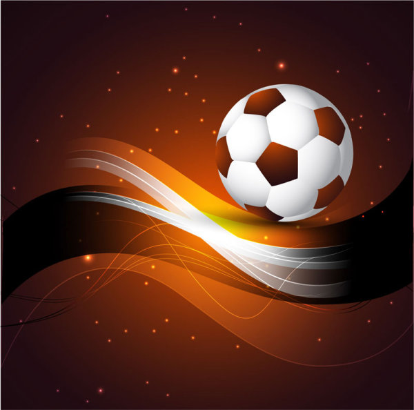 Abstract Football design vector background 01
