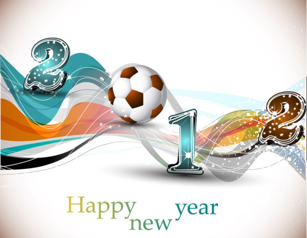 Abstract Football design vector background 03