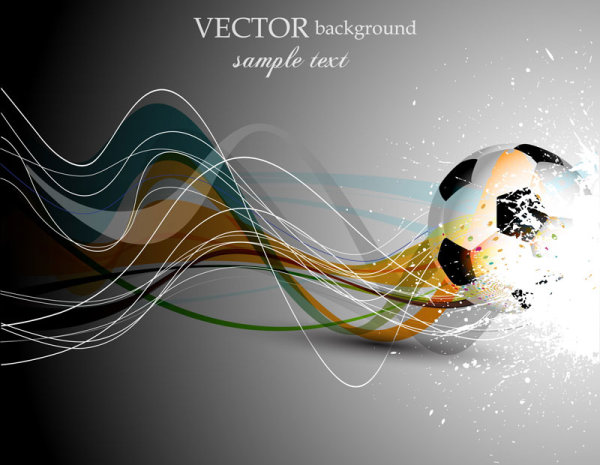 Abstract Football design vector background 04