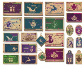 Christmas theme Label and tags vector 03
