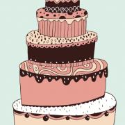 Link toCute cartoon cake elements vector