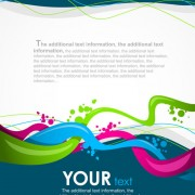 Link toColorful abstract background elements vector 02