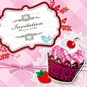Link toCupcake card vector set 01