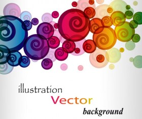 Elements of Abstract Halation background vector 02