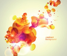 Elements of Abstract Halation background vector 03