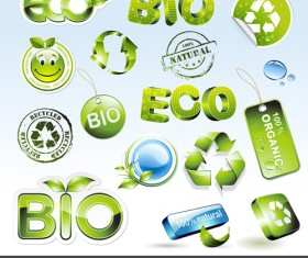 Environmental Protection and Eco elements icons vector 01