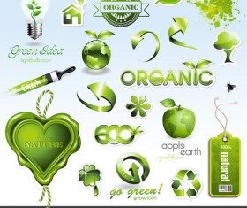 Environmental Protection and Eco elements icons vector 02