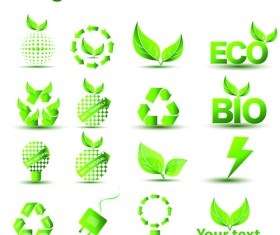 Environmental Protection and Eco elements icons vector 03