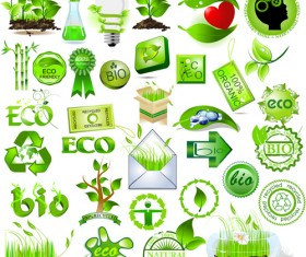 Environmental Protection and Eco elements icons vector 04