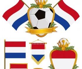 football flag elements vector set 11