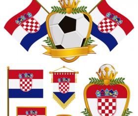 football flag elements vector set 12