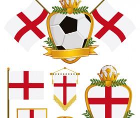 football flag elements vector set 17