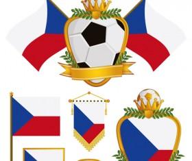 football flag elements vector set 18