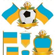 Link toFootball flag elements vector set 04
