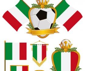 football flag elements vector set 06