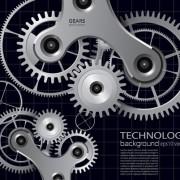 Link toSet of gears vector background 02