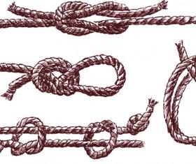 Set of knots borders elements vector 02